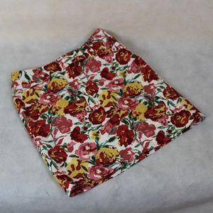 🙈Ann Taylor LOFT Petites Floral Flat Front Skirt